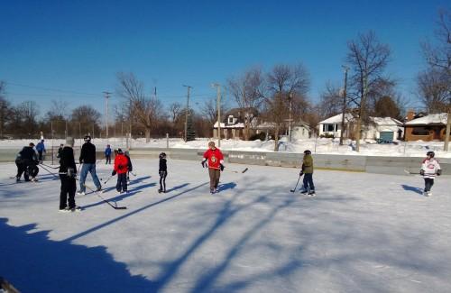 Champlain Park pickup hockey